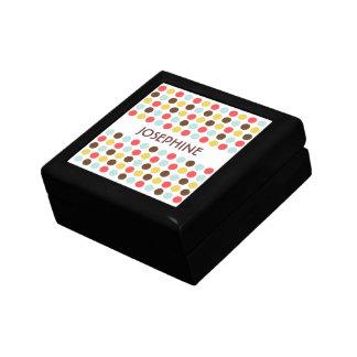 Caja moderna azul amarilla roja de la baratija de  joyero cuadrado pequeño