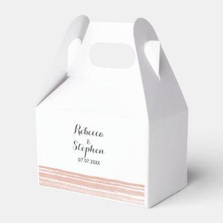 Caja moderna del favor del boda de la acuarela