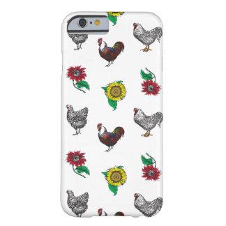 Caja mullida del teléfono de las gallinas y de los funda barely there iPhone 6