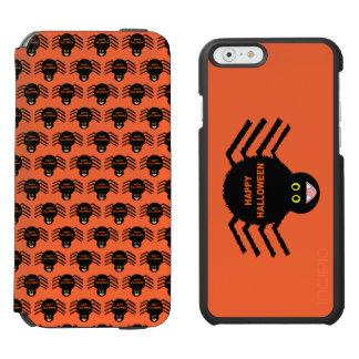 Caja negra de la cartera del teléfono de la araña funda cartera para iPhone 6 watson
