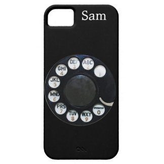 Caja negra del iPhone 5 del dial rotatorio Funda Para iPhone SE/5/5s