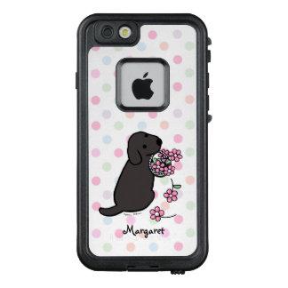 Caja negra del iPhone de la cesta de la flor de