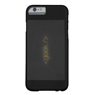 Caja negra del iphone del friki funda barely there iPhone 6