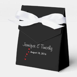 Caja negra personalizada del favor del boda cajas para regalos