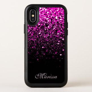 Caja negra rosada elegante del iPhone X de