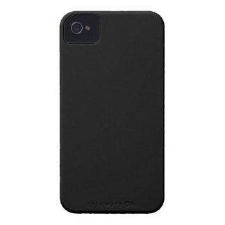 Caja negra sólida de la casamata del iPhone 4/4S iPhone 4 Case-Mate Fundas