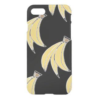 Caja negra y amarilla del iphone 7 del plátano funda para iPhone 7