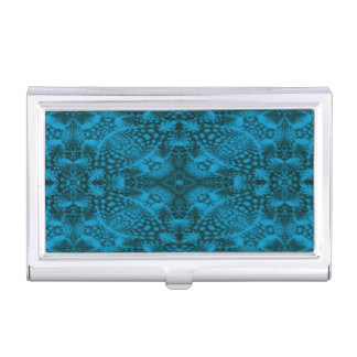 Caja negra y azul de la tarjeta de visita del