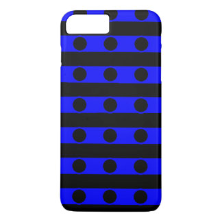 Caja negra y azul del teléfono funda iPhone 7 plus