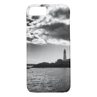 Caja negra y blanca del faro de Maine de Funda iPhone 7