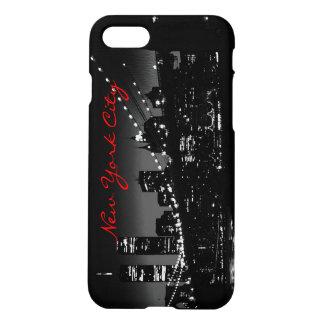 Caja negra y blanca del iPhone 7 de New York City Funda Para iPhone 7