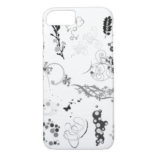 Caja negra y blanca del iphone del diseño funda iPhone 7