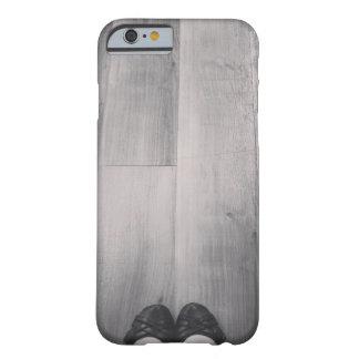 """Caja negra y blanca del teléfono de los """"zapatos funda barely there iPhone 6"""