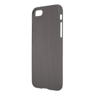 Caja negra y gris de la fibra de carbono del funda para iPhone 7