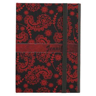 Caja negra y roja del aire del iPad de Paisley con