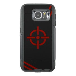 Caja negra y roja del teléfono de la blanco funda OtterBox para samsung galaxy s6