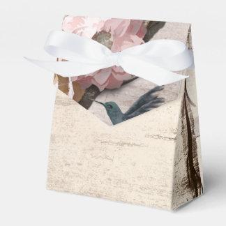 Caja Para Regalos Abedul blanco rústico floral y fiesta del colibrí