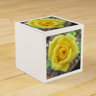 Caja Para Regalos Amarillo de la flor de la rosaleda mini
