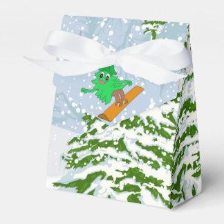 Caja Para Regalos árbol de navidad de la snowboard