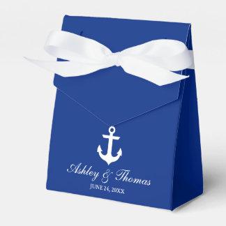 Caja Para Regalos Arco personalizado azul náutico del ancla del boda