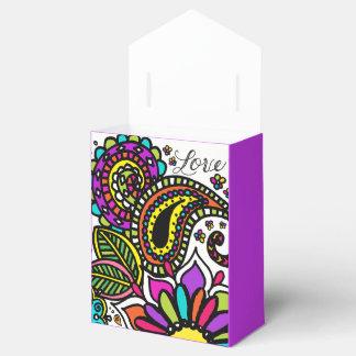 Caja Para Regalos Arte colorido intrépido de la sol de Paisley del