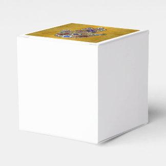 Caja Para Regalos Arte del ópalo de las flores de los corazones de