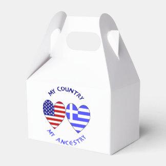 Caja Para Regalos Ascendencia griega del país de la bandera del