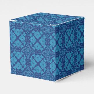 Caja Para Regalos Azul en Patttern geométrico floral azul