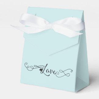 Caja Para Regalos Azul romántico del paraíso de la isla con