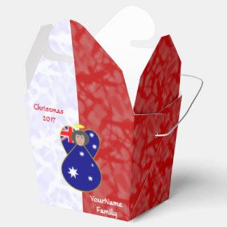 Caja Para Regalos Blanco rojo australiano del pelo negro de la