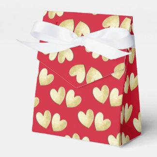 Caja Para Regalos Blanco rojo bonito del oro personalizado