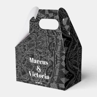 Caja Para Regalos Boda blanco y negro de la mandala