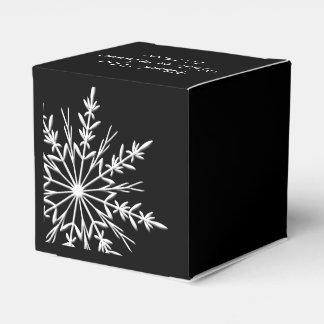 Caja Para Regalos Boda blanco y negro del invierno de los copos de