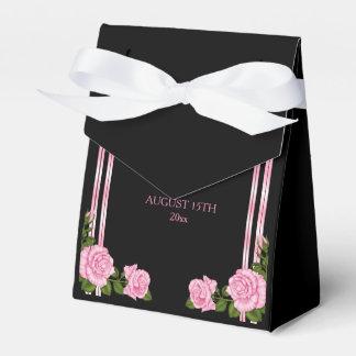 Caja Para Regalos Boda color de rosa de la esquina elegante elegante