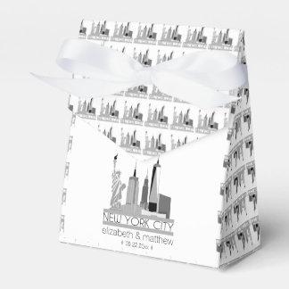 Caja Para Regalos Boda del horizonte de New York City