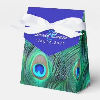 Caja Para Regalos Boda del pavo real del azul real