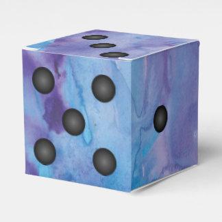 Caja Para Regalos Boda elegante azul y púrpura de los dados de la