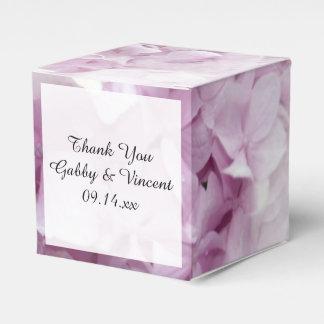 Caja Para Regalos Boda floral del Hydrangea rosado suave