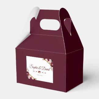 Caja Para Regalos Boda floral elegante de la caída de Borgoña