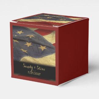 Caja Para Regalos Boda militar de la bandera americana