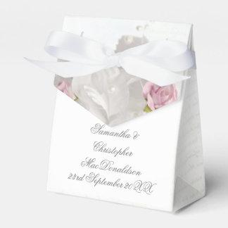 Caja Para Regalos Boda romántico color de rosa rosado floral blanco