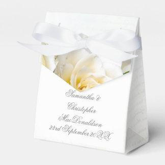 Caja Para Regalos Boda romántico floral de la flor del rosa blanco