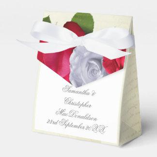 Caja Para Regalos Boda romántico floral de la flor del rosa rojo