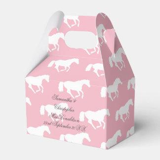 Caja Para Regalos Boda temático ecuestre rosado del caballo o del