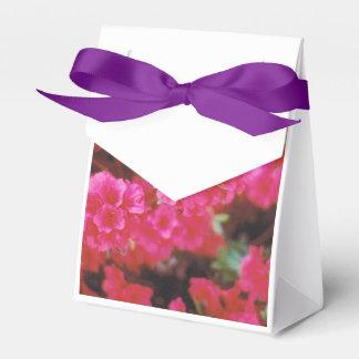 Caja Para Regalos Bolso del favor de fiesta con las azaleas rosadas
