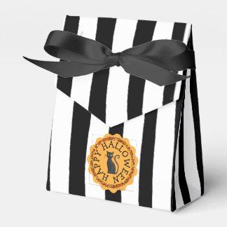 Caja Para Regalos Bolso del favor del gato negro del feliz Halloween