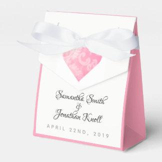 Caja Para Regalos Bolso rosado elegante del favor de banquete de
