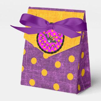 Caja Para Regalos Bolsos negros y púrpuras del feliz Halloween de
