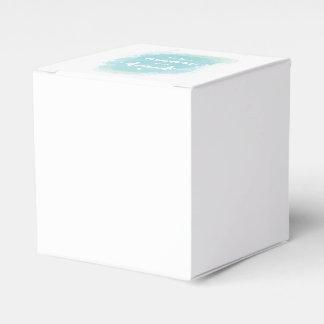 """Caja Para Regalos Bonito """"acuarela azul de la caligrafía de la luna"""""""