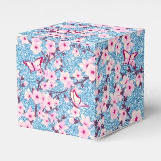 Caja Para Regalos Brillo azul de las flores de cerezo florales